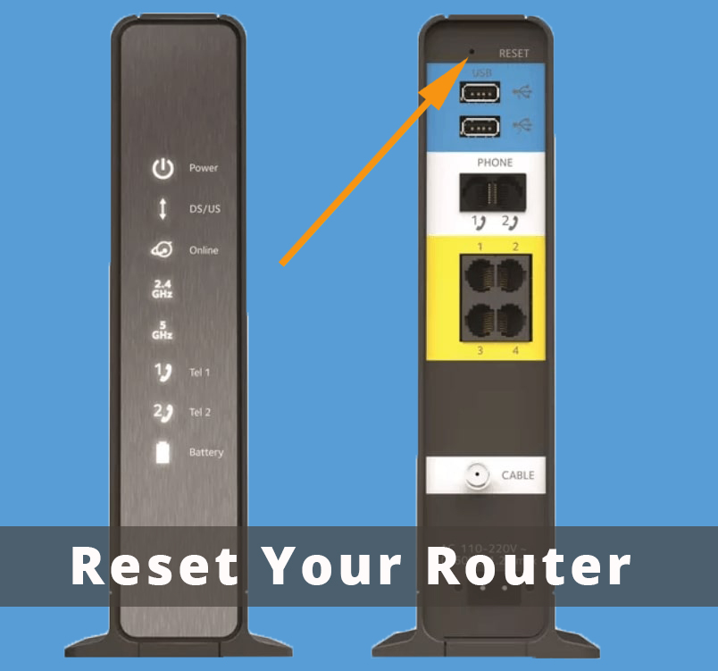 Reset Your Router